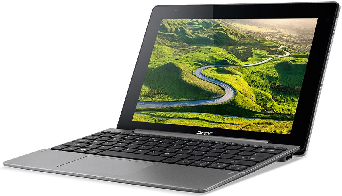 Acer Aspire Switch 10 V (SW5-014-1799)NT.G62ER.001Acer Aspire Switch 10 V - это мощный и стильный планшет-трансформер с металлическим корпусом. Механизм крепления Acer Snap Hinge 2 улучшен по сравнению с шарнирами предыдущих моделей благодаря конструкции направляющей плоскости. Эта конструкция позволяет быстро и удобно подключать или отсоединять клавиатуру. Переключайтесь между четырьмя режимами: ноутбук, планшет, презентация (идеально для кухни или небольшого столика) и дисплей.Устройство снабжено портом USB-C, который обеспечивает высокую скорость передачи данных. Это позволяет передавать сжатые данные на внешние устройства. Невероятная скорость передачи данных для эффективной работы.Switch 10 V выглядит утонченно и профессионально. На блестящий металлический корпус нанесен утонченный текстурированный узор, который делает устройство невероятно привлекательным и впечатляющим.Благодаря процессору Intel Atom x5 это устройство 2-в-1 может справиться даже с самыми ресурсоемкими задачами. Процессор обеспечивает превосходное качество графики и производительность игр, а также улучшенную энергоэффективность.Мощный процессор работает с аппаратными средствами 802.11a/b/g/n MIMO, чтобы обеспечить невероятно быструю загрузку файлов, а также плавный просмотр веб-страниц и трансляцию видео. А Bluetooth 4.0 обеспечит сверхбыстрое подключение ближнего действия.Windows 10 не только сочетает в себе лучшие функции Windows 7 и Windows 8.1, но и добавляет несколько полезных улучшений. Меню Пуск вернулось на свое прежнее место — в левом нижнем углу экрана.Технология Acer SwitchLock позволяет установить связь между клавиатурой и планшетом. Для обеспечения дополнительной защиты данные на жестком диске клавиатуры будут автоматически заблокированы при отсоединении планшета и разблокированы при его подключении.Среди других преимуществ этого устройства 2-в-1 его яркий дисплей диагональю 10,1 дюйма (Full HD с IPS и технологией Zero Air Gap) с прочным стеклом Gorilla Glass, двумя камерами, двум