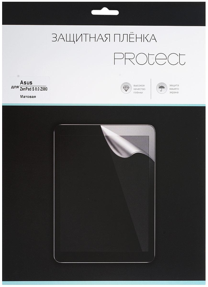 Protect защитная пленка для Asus ZenPad S 8.0 Z580, матовая21766Защитная пленка Protect предохранит дисплей Asus ZenPad S 8.0 Z580 от пыли, царапин, потертостей и сколов. Пленка обладает повышенной стойкостью к механическим воздействиям, оставаясь при этом полностью прозрачной. Она практически незаметна на экране гаджета и сохраняет все характеристики цветопередачи и чувствительности сенсора.