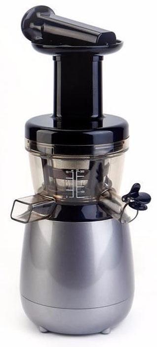 Hurom НP-DBE12, Grey соковыжималкаНP-DBE12Простая, компактная модель соковыжималки Hurom НP-DBE12 с глянцевым корпусом. Удобный клапан для легкой очистки и возможности смешивания соков. Возможно смешивать ингредиенты. Легко мыть. Датчик безопасности для HP модели.Компактная модель, удобная в использовании.Безопасный!Скорость вращения шнека 43 об./мин. !Время вращения шнека 1,5 сек. !Сохраняет витамины и питательные вещества благодаря медленному вращению шнека.Безопасный, узкий загрузочный лоток. Дети не смогут в него поместить руку.100% натуральный сок. Hurom сохраняет все питательные вещества и витамины овощей и фруктов. !Потеря питательных и полезных веществ сведена к минимуму. !Медленная технология отжима сока. !Барабан из Tritan материала!Tritan используется для производства детских бутылочек. !Экономное потребление электроэнергии, 150 Вт!Большое преимущество и низкое энергопотребление соковыжималки Hurom- 150 Вт. Это почти в 10 раз меньше потребляемой мощности обычными соковыжималками.Сито из нержавеющей стали и Ultem.Сито изготовлено из нержавеющей стали. !Ёмкость барабана 300 мл. !Барабан легко снимается с основания. Достаточно потянуть за барабан.Вентиляционное HP модель отверстие. !Легко выжимает сок из любых ингредиентов. !Скорость вращения шнека 43 об/мин!