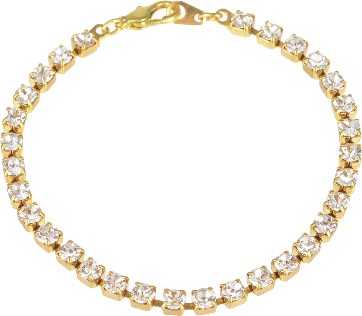 Браслет Bohemia Style, цвет: кристалл. 7457 6180 DSБраслет с подвескамиоднорядный стразовый браслет,размер камня 4х4мм