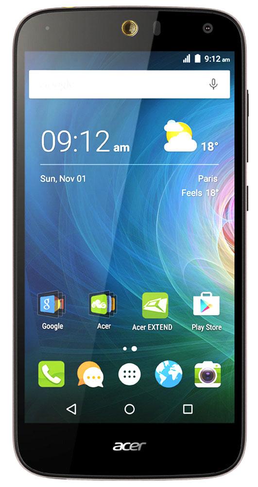 Acer Liquid Z630S, Black GoldZ630S Black-Gold LTEОцените возможности смартфона Acer Liquid Z630S: продолжительное время автономной работы, превосходную производительность и высочайшее качество изображения на 5.5 HD-дисплее с технологией IPS.Мощный восьмиядерный процессор обеспечивает быстрое время отклика, удобство работы в браузере, плавное воспроизведение видео и прохождение видеоигр на великолепном 5,5 HD-экране. Батарея 4000 мАч и память 32 ГБ обеспечат заряд на весь день и достаточно места для коллекции фотографий и видео.Удивите своих друзей. Снимите общее сэлфи высокого качества на камеру с широким углом съемки, просто сказав Чиз. Снимки сэлфи с разрешением 8 МП будут прекрасно смотреться на дисплее с технологией IPS, которая обеспечивает высокое качество изображения под любым углом обзора.Заряжайте телефоны друзей с помощью своего мобильного устройства через порт MicroUSB. Кроме того, вы можете подключить к этому порту флэш-накопитель USB, чтобы воспроизводить медиаконтент, загружать и сохранять файлы, а также обмениваться ими с друзьями.Телефон сертифицирован EAC и имеет русифицированный интерфейс меню и Руководство пользователя.