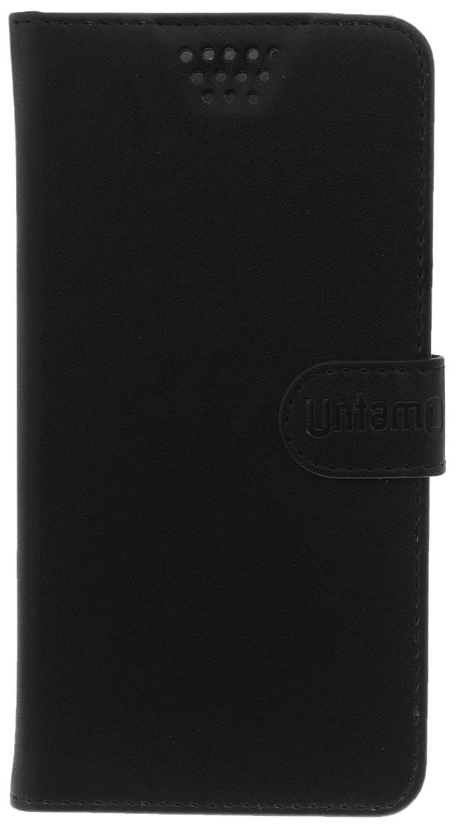 Untamo Essence чехол универсальный 5.0-5.5, BlackUESSL5.0-5.5BLУниверсальный чехол-книжка Untamo предназначен для защиты корпуса и экрана смартфона диагональю 5,0-5,5 от механических повреждений и царапин в процессе эксплуатации. Имеется свободный доступ ко всем разъемам и кнопкам устройства. Надежная фиксирующая смартфон внутренняя поверхность. Подходит для смартфонов с любым расположением камеры.