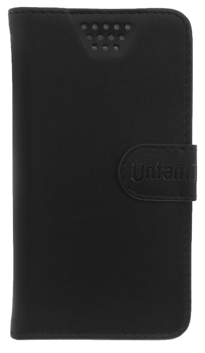 Untamo Essence чехол универсальный 3.5-4.0, BlackUESSL3.5-4.0BLУниверсальный чехол-книжка Untamo предназначен для защиты корпуса и экрана смартфона диагональю 3,5-4,0 от механических повреждений и царапин в процессе эксплуатации. Имеется свободный доступ ко всем разъемам и кнопкам устройства. Надежная фиксирующая смартфон внутренняя поверхность. Подходит для смартфонов с любым расположением камеры.