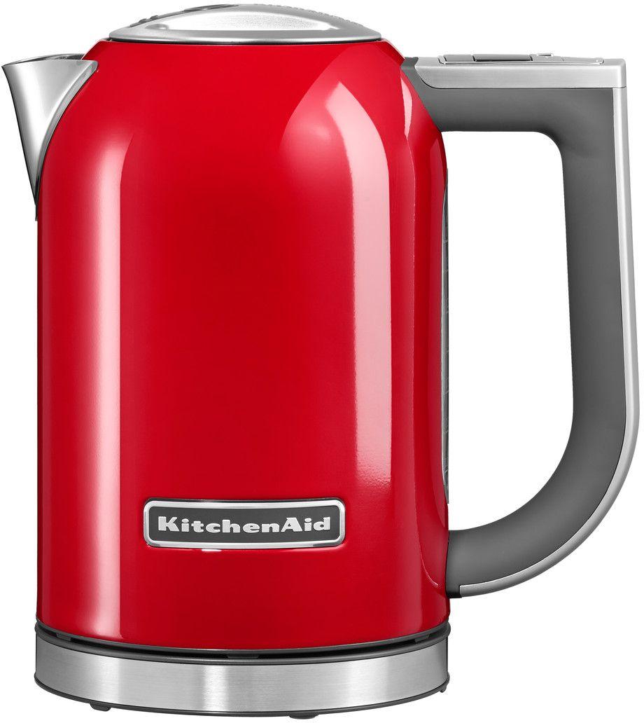 KitchenAid 5KEK1722EER, Red чайник электрический5KEK1722EERЭлектрический чайник KitchenAid 5KEK1722EER объемом 1,7 литра - раскроет все ароматы любимого чая. В этом чайнике прекрасно сочетаются функциональность, элегантность и практичность. А различные цвета позволяют сочетать его с любым интерьером Вашей кухни.Давайте подробно рассмотрим его особенности:Емкость объемом 1,7 л. Можно использовать для приготовления большого количества водыЦифровой дисплей с 6 температурными режимами от 50° C до 100° C. Выберите подходящую температуру: горячая или кипящая для напитков и бульоновУмный индикатор температуры. Покажет актуальную температуру воды на дисплее, даже когда чайник не находится на своем основанииФункция сохранения температуры. Поддерживает желаемую температуру в течение 30 минут, находясь на основанииСтальной корпус с мягкой нескользящей ручкой. Надежный, прочный и удобный в использовании