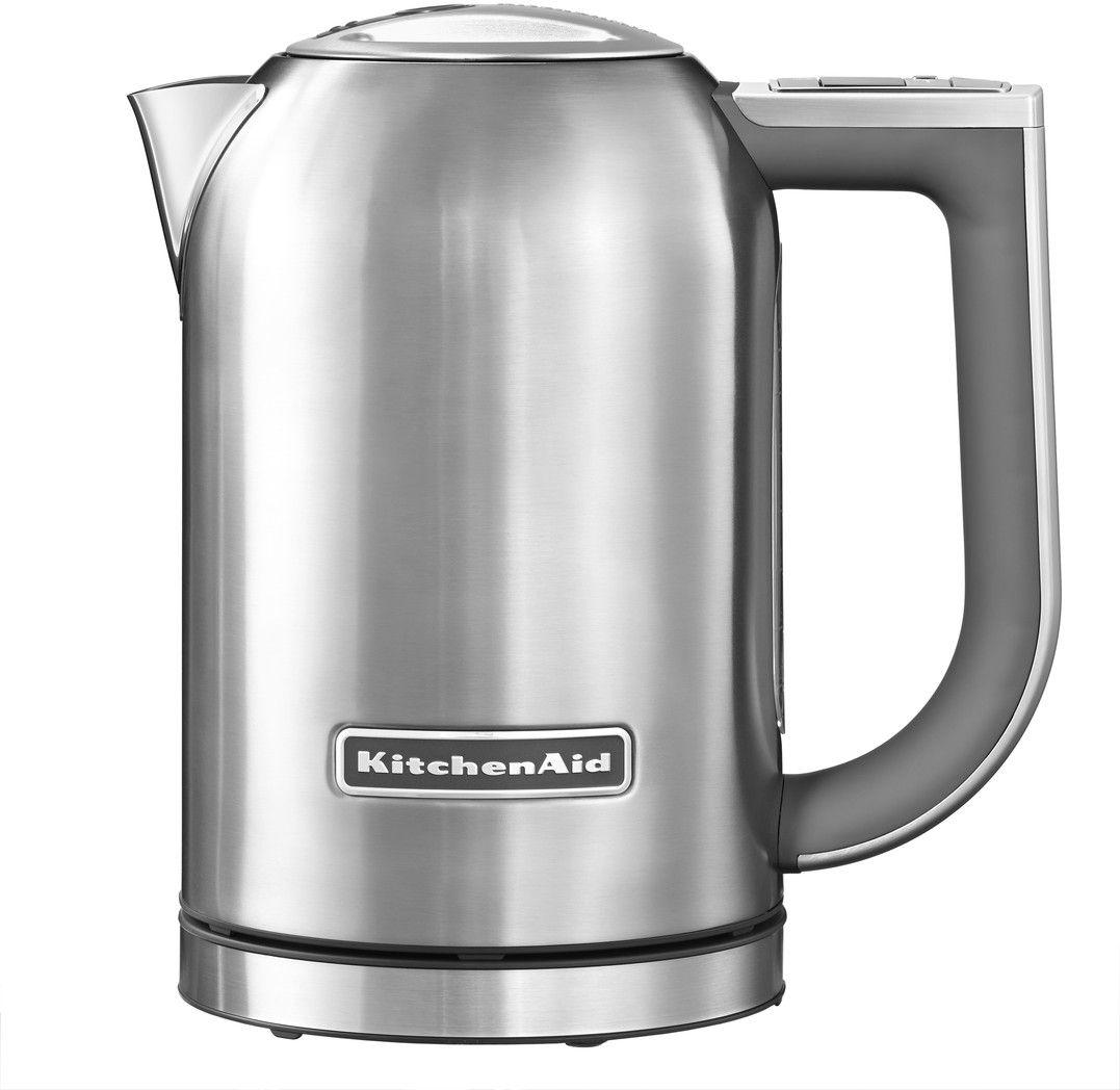 KitchenAid 5KEK1722ESX, Silver чайник электрический5KEK1722ESXЭлектрический чайник KitchenAid 5KEK1722ESX объемом 1,7 литра - раскроет все ароматы любимого чая. В этом чайнике прекрасно сочетаются функциональность, элегантность и практичность. А различные цвета позволяют сочетать его с любым интерьером Вашей кухни.Давайте подробно рассмотрим его особенности:Емкость объемом 1,7 л. Можно использовать для приготовления большого количества водыЦифровой дисплей с 6 температурными режимами от 50° C до 100° C. Выберите подходящую температуру: горячая или кипящая для напитков и бульоновУмный индикатор температуры. Покажет актуальную температуру воды на дисплее, даже когда чайник не находится на своем основанииФункция сохранения температуры. Поддерживает желаемую температуру в течение 30 минут, находясь на основанииСтальной корпус с мягкой нескользящей ручкой. Надежный, прочный и удобный в использовании