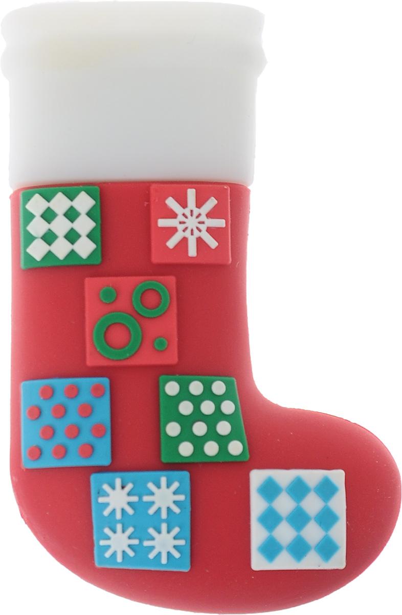 Hemline Рождественский носок 2Gb, Red White флеш-накопительE102.12Компактный флеш-накопитель Hemline в форме рождественского носка отлично подойдет в качестве подарка или сувенира друзьям или коллегам. Материал внешней части защищает устройство от попадания влаги и пыли, а также от повреждений при неосторожном обращении. Благодаря высокопрочной конструкции накопитель будет защищен даже от случайных ударов или падений.