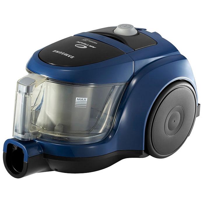 Samsung SC-4520B пылесосVCC4520S3B/XEVSamsung SC-4520B - компактный пылесос без мешка для сбора пыли. Емкость для сбора пыли легко моется. Просто снимите, промойте водой, высушите и поставьте на место. Не требует замены!Щелевая насадка позволяет добраться до самых труднодоступных и узких мест при тщательной уборке. Щетка для пыли используется, чтобы избежать царапин при уборке деликатных поверхностей, таких, например, как поверхности аудиосистемы или решетки кондиционеров.В двухкамерной циклонной системе фильтрации (Twin Chamber System) внутренняя камера предназначена для циклонного потока воздуха, а внешняя для сбора частиц мусора и пыли. Под воздействием центробежной силы частицы пыли отделяются от циклонного потока и собираются во внешней камере. Благодаря такому инновационному решению с разделением на две камеры, удалось значительно увеличить эффективность фильтрации мелких частиц пыли и сохранить максимальную мощность всасывания на протяжении всей уборки.