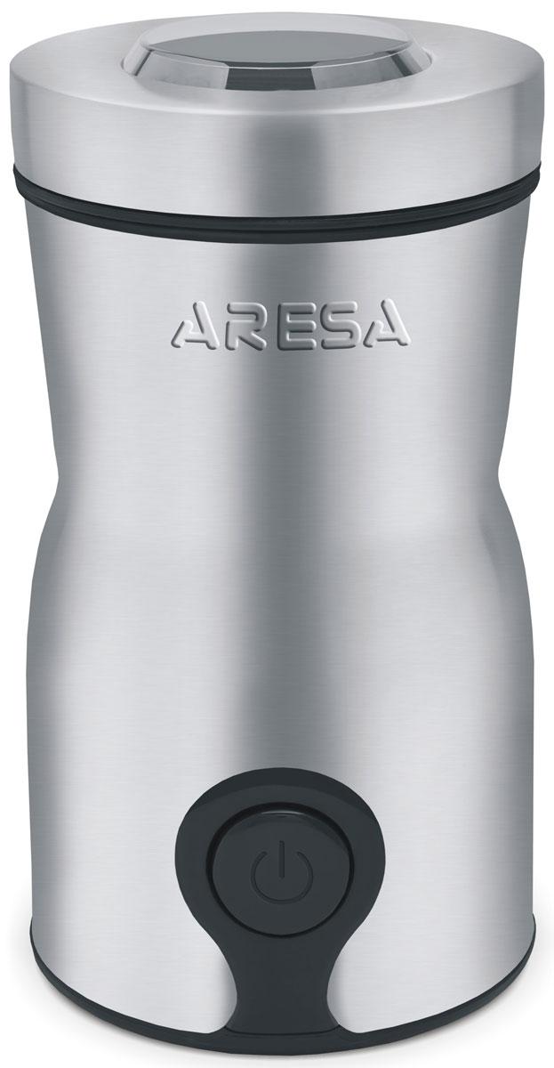 Aresa AR-3604 кофемолкаAR-3604Приготовление ароматного кофе с насыщенным вкусом - это настоящее искусство, где немаловажная роль отводится используемому сырью. Именно свежемолотый кофе способен дать желаемый результат для настоящих ценителей бодрящего напитка. Быстро перемолоть кофейные зерна до порошка вам поможет кофемолка Aresa AR-3604. Данное устройство абсолютно безопасно в использовании и снабжено защитой от случайного включения. Кофемолка отличается стильным внешним видом и компактными размерами, поэтому хранить ее вы можете прямо на кухонном столе.