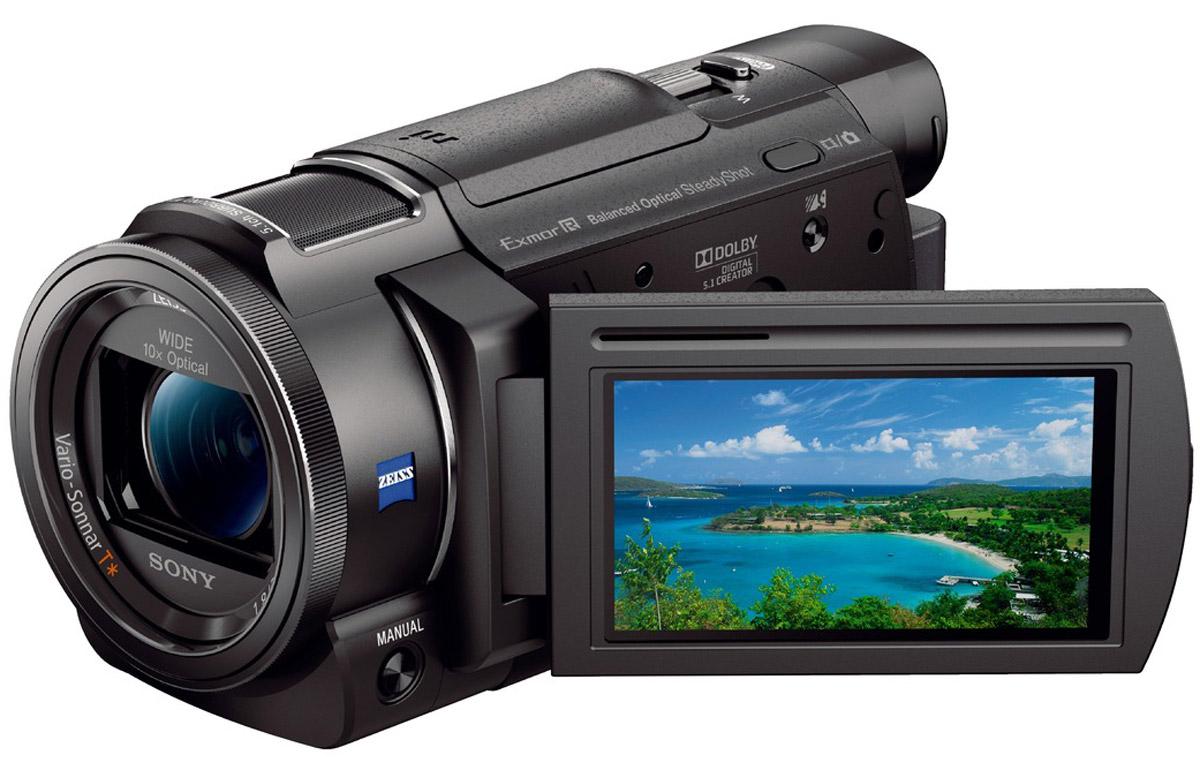 Sony FDR-AX53 цифровая видеокамераFDRAX53B.CEEЗапечатлейте яркие моменты и эмоции, не теряйте оригинального взгляда на мир. Благодаря видеокамере Sony FDR-AX53 воспоминания навсегда останутся с вами.Технология стабилизации изображения Balanced Optical SteadyShot и быстрый интеллектуальный АФ позволяет добиваться точного результата согласно первоначальной задумке. Микрофон новой конструкции обеспечивает запись объемного звука для передачи окружающей атмосферы. Кроме того, можно экспериментировать с замедленной и ускоренной съемкой и управлением усиления благодаря профессиональным функциям и ручной настройке параметров. Возможности этой камеры для творчества безграничны.Объектив ZEISS Vario-Sonnar T с фокусным расстоянием 26,8 мм в максимальном широкоугольном положении позволяет захватить в кадр больше. Увеличенная площадь каждой светочувствительной ячейки повышает чувствительность матрицы и позволяет вести съемку даже в темноте.Эффективная работа привода системы АФ и передовая система прогнозирования движения позволяет быстро переключать область резкости с дальних на близкие объекты. Мощные возможности стабилизации изображения позволяют вести съемку во всем диапазоне фокусных расстояний в движении.Микрофон новой конструкции осуществляет высококачественную запись звука для максимально точной передачи окружающей атмосферы, при этом уровень помех снижен примерно на 40%.Ведите съемку на профессиональной уровне благодаря функциям ручной настройки, электронному видоискателю и возможности записи временного кода и пользовательского бита.Записывайте видео с частотой 100 кадров/с в разрешении Full HD. Ролик с эффектом замедленной съемки позволит в полной мере насладиться красотой каждого момента.С функцией интервальной съемки можно снимать серию фотографий с одного ракурса в течение определенного периода времени через равные промежутки, а затем смонтировать получившиеся снимки в интервальное видео с разрешением 4K.