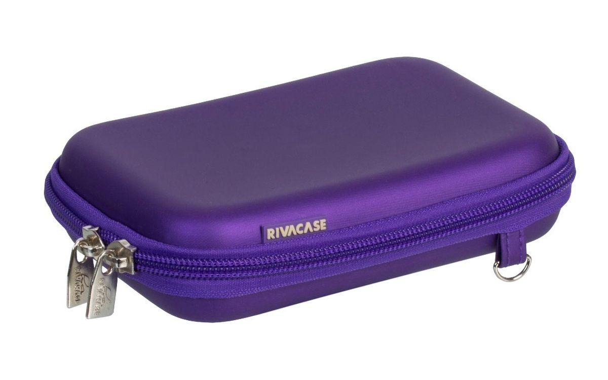 Riva 9101 (PU) HDD Case, Ultraviolet чехол для жесткого диска6662Чехол Riva 9101 (PU) HDD Case для внешнего жесткого диска (HDD). Подходит для большинства 2.5 HDD. Чехол создан из высококачественного материала EVA, он надежно защищает от внешних воздействий, случайных ударов и царапин, а также от пыли и влаги. Предусмотрена возможность крепления на поясном ремне. Устройство надежно крепится внутри чехла специальной фиксирующей лентой, кроме того предусмотрены дополнительные внутренние карманы для кабеля, карт памяти и аксессуаров. Двойная застежка молния для удобного доступа к устройству.