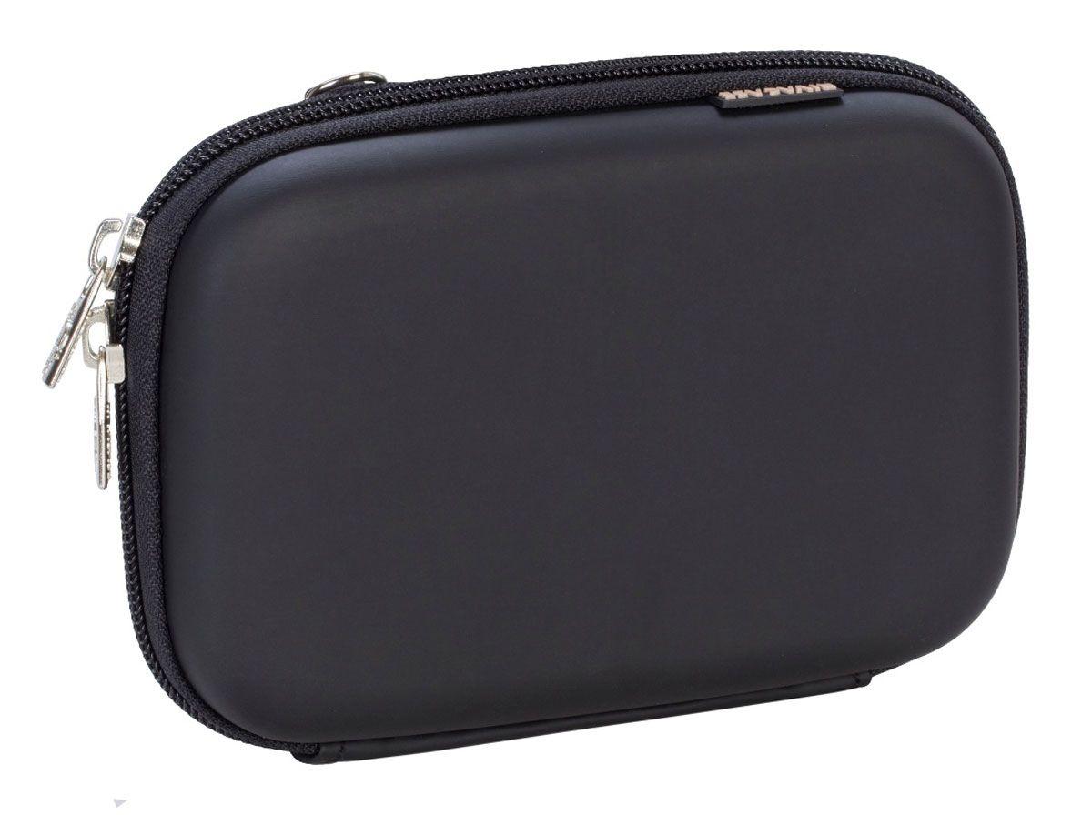 Riva 9101 (PU) HDD / GPS Case, Black чехол для жесткого диска6351Чехол Riva 9101 (PU) HDD / GPS Case для внешнего жесткого диска (HDD). Подходит для большинства 2.5 HDD или 4.3 GPS. Чехол создан из высококачественного материала EVA, он надежно защищает от внешних воздействий, случайных ударов и царапин, а также от пыли и влаги. Предусмотрена возможность крепления на поясном ремне. Устройство надежно крепится внутри чехла специальной фиксирующей лентой, кроме того предусмотрены дополнительные внутренние карманы для кабеля, карт памяти и аксессуаров. Двойная застежка молния для удобного доступа к устройству.
