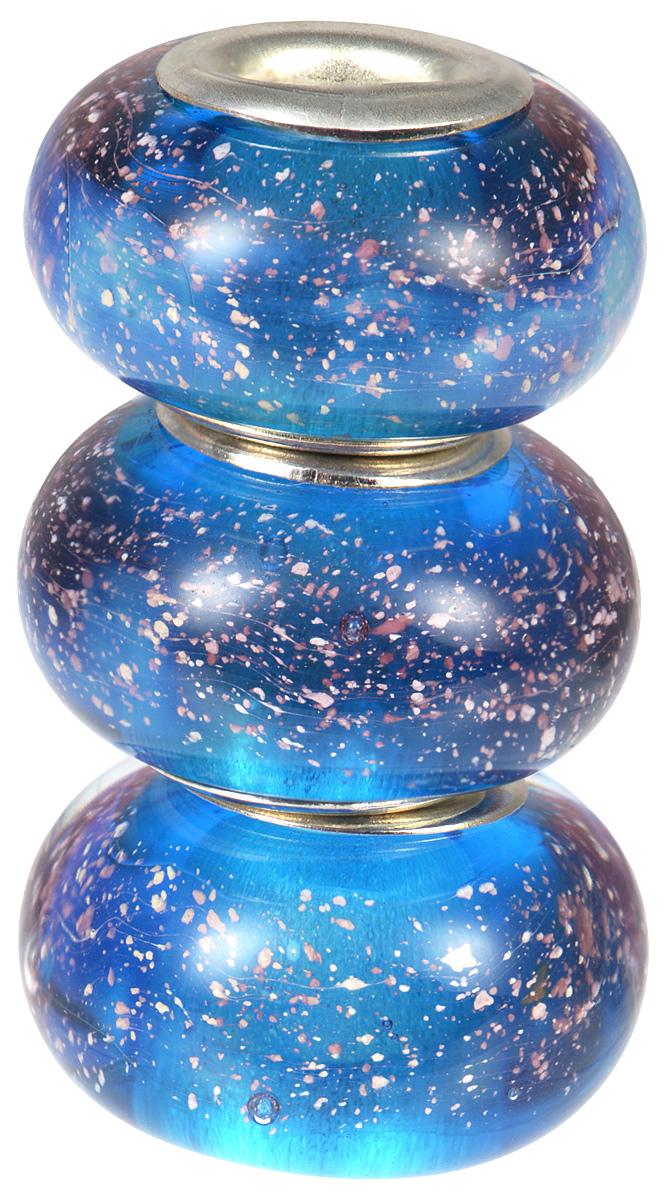 Европейские бусины Капли Морейн, 3 штуки, цвет: синий, голубой. Ручная авторская работа. PDD003Кольцо для платкаСтильные бусины ручной работы Капли Морейн не оставят вас равнодушной, благодаря своему дизайну. Они изготовлены из стекла, а металлическая фурнитура выполнена в стиле Пандора.Такие бусины помогут вам создать свои собственные яркие украшения. Браслет в комплект не входит!