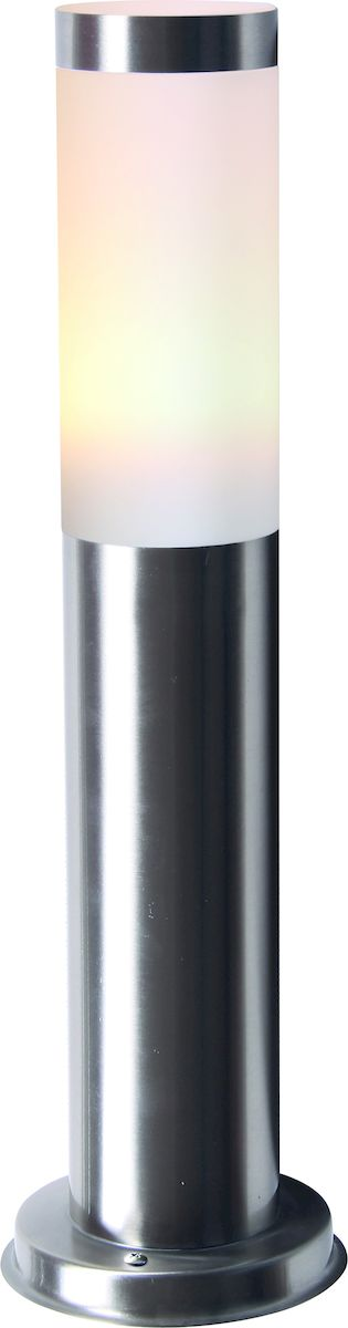Светильник уличный Arte Lamp Salire. A3158PA-1SSA3158PA-1SSУличный светильник Arte Lamp Salire поможет создать в вашем придомовом участке атмосферу уюта и комфорта. Благодаря высококачественным материалам он практичен в использовании и отлично работает на протяжении долгого периода времени. Светильник-столбик в современном стиле предназначен для освещения пространства на улице. Высота: 45 см. Диаметр плафона: 8 см. Диаметр основания: 12.5см. Лампа: Е27, 1х60 Ватт. Крепление: основание шурупами в пол.