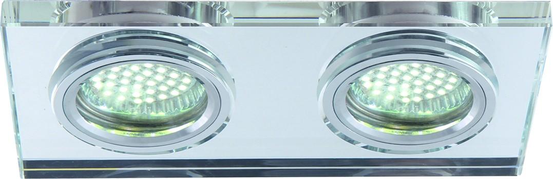 Светильник потолочный Arte Lamp Specchio. A5956PL-2CCA5956PL-2CCПотолочный светильник Arte Lamp Specchio поможет создать в вашем доме атмосферу уюта и комфорта. Благодаря высококачественным материалам он практичен в использовании и отлично работает на протяжении долгого периода времени. Стильный встраиваемый спот прямоугольной формы. Лампы: GU10, G5.3, 2х50 Ватт.Размер врезного отверстия: 6х14,3 см.