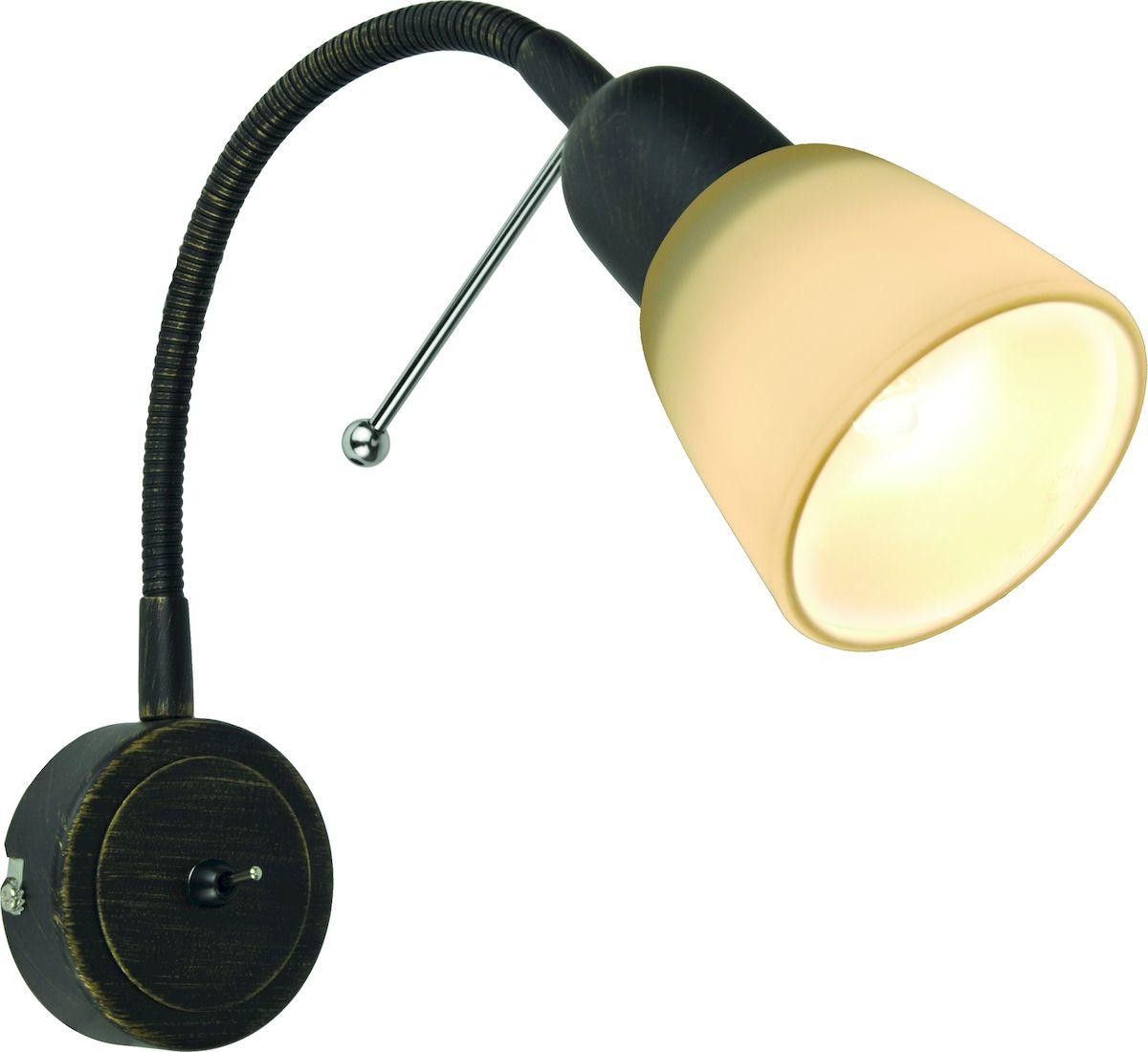 Светильник настенный Arte Lamp LETTURA A7009AP-1BRA7009AP-1BR