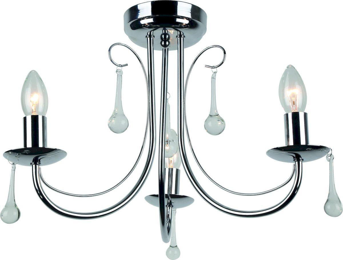 Светильник потолочный Arte Lamp Speranza. A8548PL-3CCA8548PL-3CCПотолочный светильник Arte Lamp Speranza поможет создать в вашем доме атмосферу уюта и комфорта. Благодаря высококачественным материалам он практичен в использовании и отлично работает на протяжении долгого периода времени. Люстра потолочная в классическом стиле с тремя рожками и декоративными подвесками. Лампы направлены вверх. Диаметр: 50 см.Лампы: Е14, 3х40 Ватт.Тип крепления: монтажная скоба на шурупах.