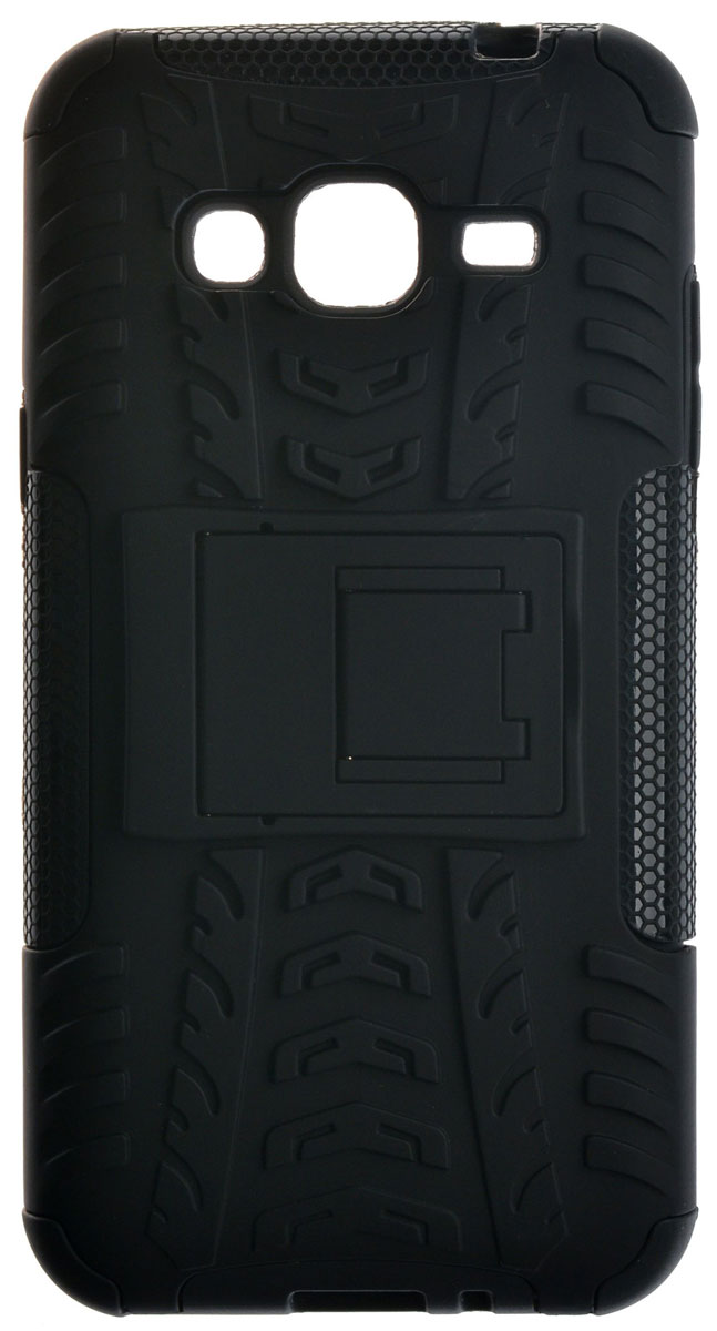 Skinbox Defender Case чехол для Samsung Galaxy J3 (2016), Black2000000098715Чехол-накладка Skinbox Defender Case для Samsung Galaxy J3 (2016) бережно и надежно защитит ваш смартфон от пыли, грязи, царапин и других повреждений. Выполнена из высококачественного поликарбоната, плотно прилегает и не скользит в руках. Чехол-накладка оставляет свободным доступ ко всем разъемам и кнопкам устройства.