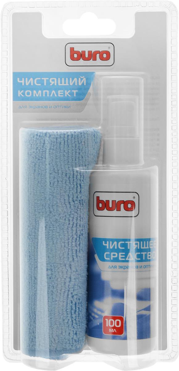 Чистящий набор для экранов и оптики Buro BU-S/MF, 100 млBU-S/MFЧистящий набор Buro BU-S/MF состоит из спрея-очистителя помпового типа и салфетки из микроволокна. Предназначен для очистки экранов мониторов, телевизоров, ноутбуков и другой техники от грязи, пыли и отпечатков пальцев. Не оставляет разводов и обеспечивает длительный антистатический эффект. Состав чистящего средства специально разработан для ухода за оптическими поверхностями мониторов и телевизоров, с учетом всех особенностей этого вида техники.Состав:Чистящее средство: вода, неионогенные ПАВ Салфетка из микроволокна 25 см х 25 см: полиамид 70%; полиэстер 30%
