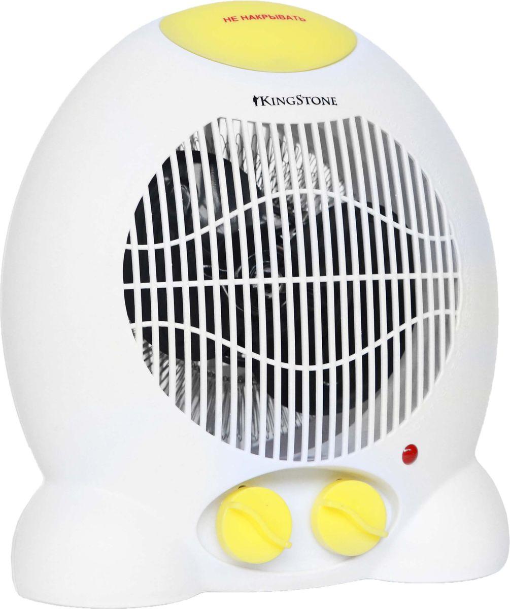 KingStone FH-809 тепловентиляторKingStone FH-809Тепловентилятор KingStone FH-809 служит для быстрого прогрева помещения с наименьшими затратами электроэнергии. Принудительно нагнетая горячий воздух, тепловентилятор заставляет его циркулировать, смешиваясь с холодным, благодаря чему прогрев помещения происходит значительно быстрее, чем в случае обычных обогревателей. Тепловентилятор KingStone FH-809 может работать в режиме обычного вентилятора, а также нагнетать теплый или горячий воздух. Используя разные режимы работы можно добиться установления в помещении устойчивого и комфортного микроклимата. Материал корпуса - термостойкий пластик абсолютно безвреден и соответствует всем стандартам безопасности. 3 режима работыРежим вентилятора без нагрева, режим теплого потока воздуха и режим горячего потока воздуха.