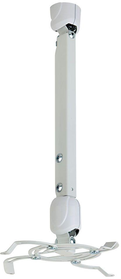 Kromax Projector-400w, White потолочный кронштейн для проекторовPROJECTOR-400wПотолочный кронштейн Kromax Projector-400w для проекторов.Надежная стальная конструкция Быстрая установка и снятие проектора Максимальная степень подвижности проектор можно вращать на 360° и наклонять на ±30° Декоративные пластиковые накладки Кабель-канал Регулируемая высота штанги от  мм до 811 мм.