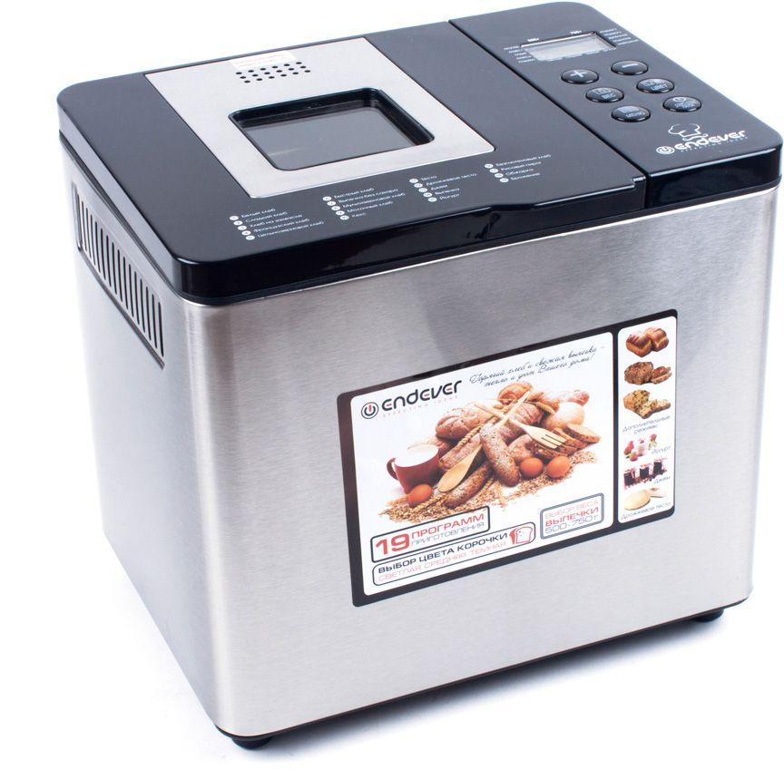 Endever MB-54 хлебопечьMB-54Компактная модель хлебопечи, выполненная в стальном корпусе - совершенное устройство, позволяющее готовить изысканную выпечку, в том числедесерты, джемы, йогурты. Кроме того имеется программа для приготовления теста. В общей сложности, в Вашем распоряжении для комфортной эксплуатации - 19 автоматических программ для различного вида хлеба.