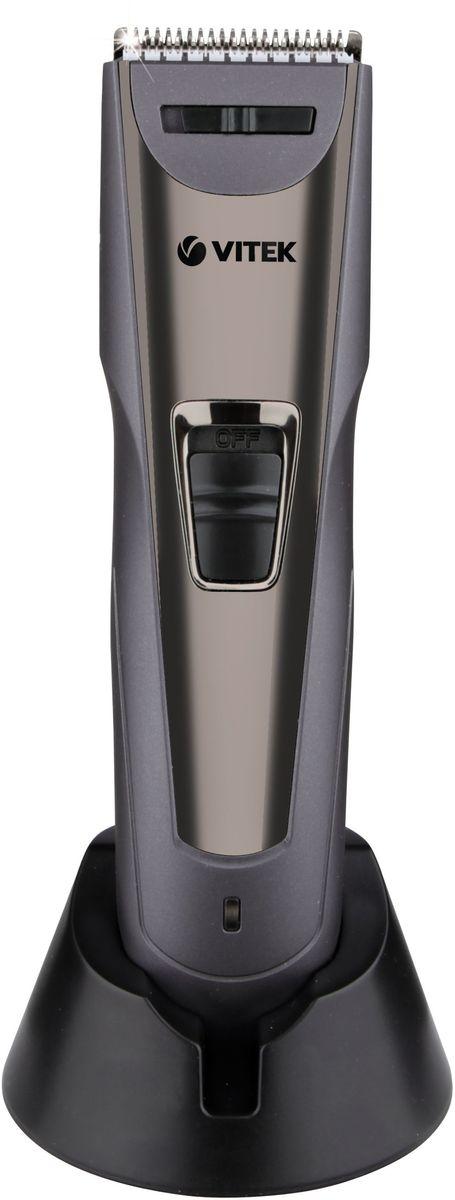 Vitek VT-2572(GR) набор для стрижкиVT-2572(GR)Машинка для стрижки волос Vitek VT-2572(GR) выполнена в элегантном дизайне, эргономична и оснащена надежными и качественными лезвиями из высококачественной стали. Длина волос регулируется от 3 до 30 миллиметров благодаря двум насадкам с регулировкой длины. С машинкой Vitek VT-2572(GR) вы сможете самостоятельно сделать себе стильную и качественную стрижку не выходя из дома.