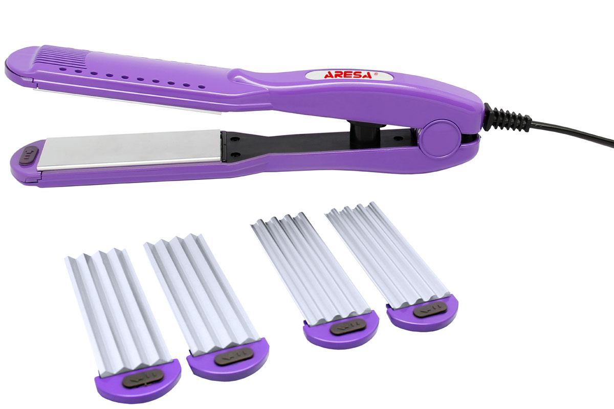 Aresa AR-3312 электрощипцы для волосAR-3312Щипцы для моделирования прически Aresa AR-3312 имеют мощность 30 Вт, а также оснащены тремя сменными насадками (выпрямитель, мини и макси волна). Переключатель On/Off оснащен удобным световым индикатором. Данная модель позволит бережно и тщательно создавать прически и ухаживать за вашими волосами.
