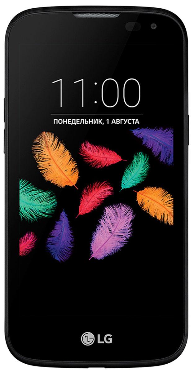 LG K3 LTE 100DS, Black BlueLGK100DS.ACISKUЖивите в своем ритме – открывайте новые интересные места, получайте невероятные впечатления! Не ограничивайте себя в желаниях – наслаждайтесь смелым, стильным дизайном, делайте необычные селфи. Пусть мир вокруг становится ярче, а новый LG K3 LTE каждый день вдохновляет на новые открытия.Делать селфи с LG K3 LTE просто и удобно. Покажите камере раскрытую ладонь, сожмите ее в кулак, и начнется 3-секундный отсчет перед снимком. Вам остается только улыбнуться!Виртуальной вспышкой стал сам дисплей, который является источником яркого света. Такая вспышка подарит вам четкие и яркие снимки. Достаточно одного прикосновения к экрану, чтобы камера сама настроила фокус и сделала снимокСмартфон сертифицирован EAC и имеет русифицированный интерфейс меню и Руководство пользователя.