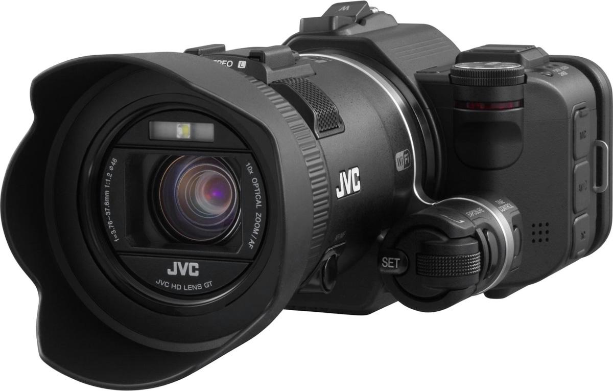 JVC GC-PX100, Black цифровая видеокамераGC-PX100BEUКамера JVC GC-PX100 предлагает более широкие возможности, чем предполагает потребитель. Модель характеризуется возможностью получения изображений в формате Full HD 1920x1080/60P на 36Mbps. Наличие полного диапазона скоростей записи (от покадровой до высокоскоростной) выгодно сочетается с переключением на отдельном циферблате, находящимся недалеко от объектива. Для получения эффекта замедления чрезмерно быстрых движений для обработки или анализа предназначена встроенная функция, позволяющая формату Full HD воспроизводить замедленное видео.Камера GC-PX100 может снимать в форматах AVCHD, MP4 и MOV, включая формат iFrame, совместимый с 720p. Съемка в режиме MOV обеспечивает звукозапись в Linear PCM, что способствует неизменно высокому качеству звука. Яркий широкоугольный объектив F1.2 GT, 1/2.3, 12.8 мегапиксельный CMOS -сенсор с задней подсветкой в сочетании с оптическим стабилизатором изображения предполагает получение высококачественных четких картинок.