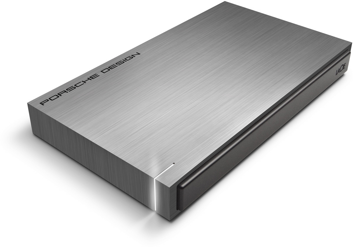 LaCie Porsche Design Mobile Drive 2TB, Dark Grey внешний жесткий диск (LAC9000459)