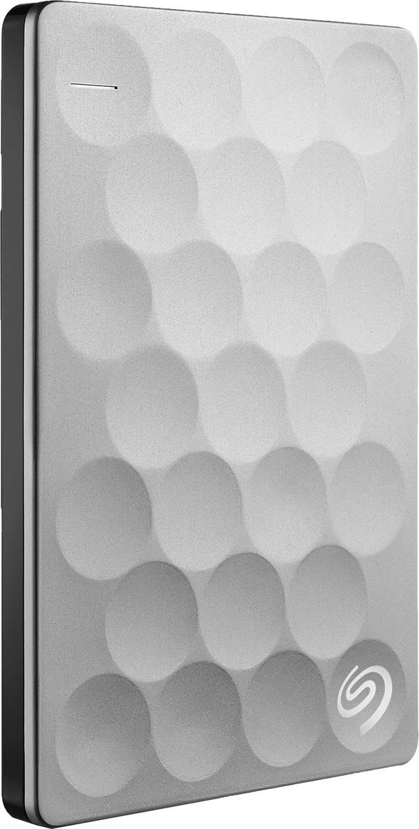 Seagate Backup Plus Ultra Slim 1TB USB 3.0, Platinum внешний жесткий диск (STEH1000200)