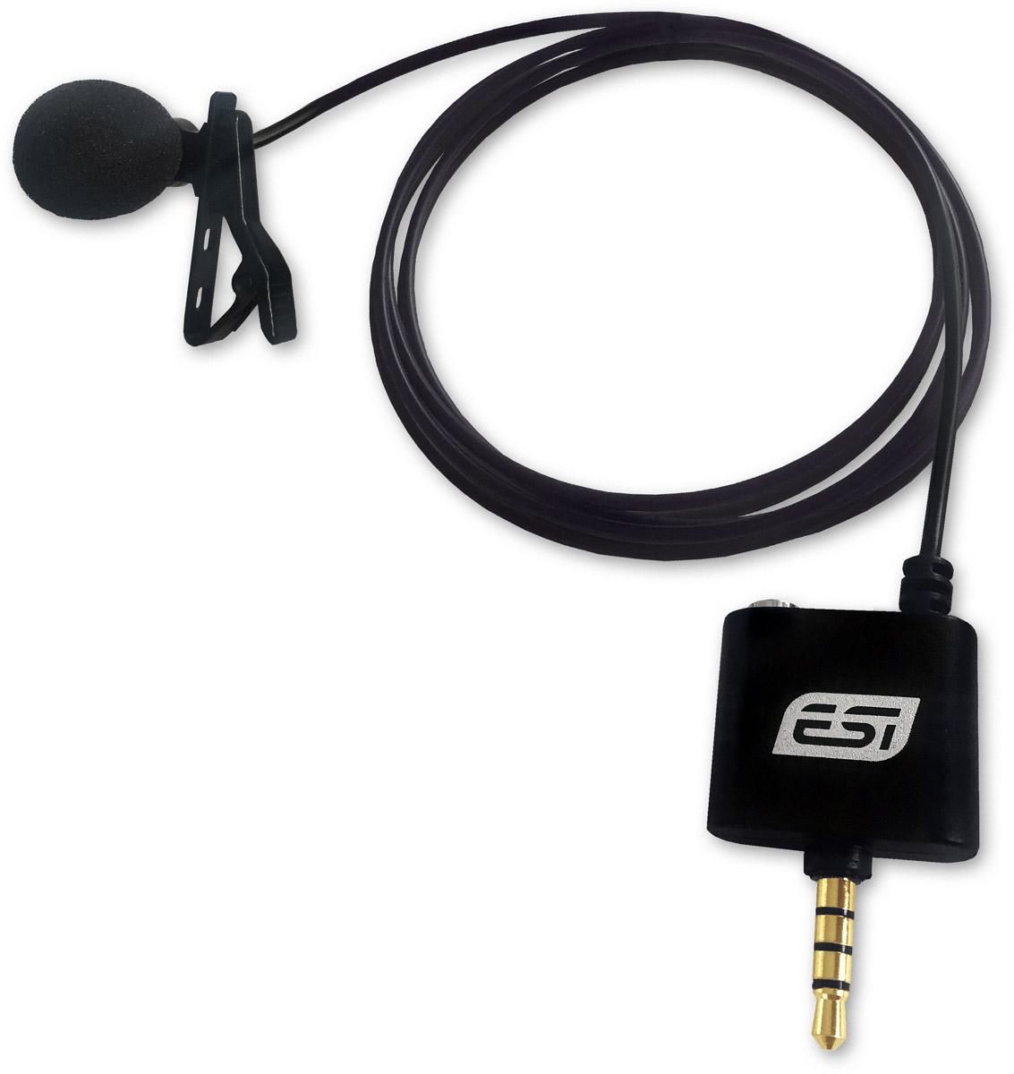 ESI cosMik Lav, Black микрофонcosMik LavESI cosMik Lav — миниатюрный конденсаторный петличный микрофон. Эта модель подключается напрямую к мобильным устройствам на базе iOS/Android и предназначена для записи подкастов, интервью, презентаций и лекций. При этом новинка обеспечивает более высокое качество звука, чем встроенный микрофон вашего девайса.Микрофон с круговой диаграммой направленностиДлинный соединительный кабель с 4-контактным разъёмом TRRSВыход на наушники типа миниджек для мониторинга во время записиПоролоновая ветрозащита