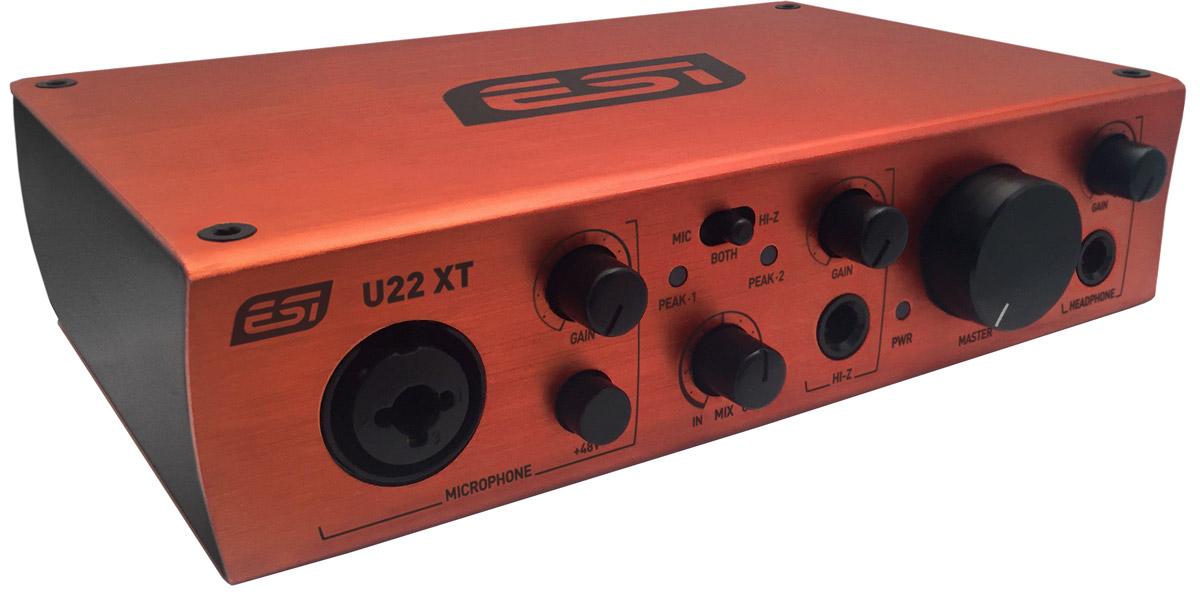 ESI U22 XT, Red аудиоинтерфейс - Студийное оборудование