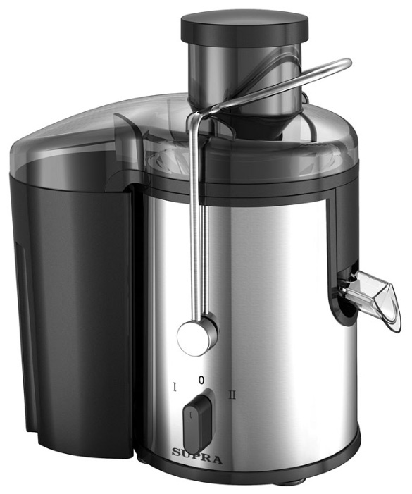 Supra JES-1850 соковыжималкаJES-1850Преимущество соковыжималки Supra JES-1850 состоит в высокой мощности 800 Вт, а также большой воронке (65 мм) для овощей и фруктов. Благодаря этим особенностям, а также объемному (1,5 л) контейнеру для мякоти, у вас будет возможность быстро и беспрерывно выжать большое количество свежего сока. Прибор имеет импульсный режим работы и две скорости вращения, что позволит получать сок как из мягких, так и из твердых фруктов.