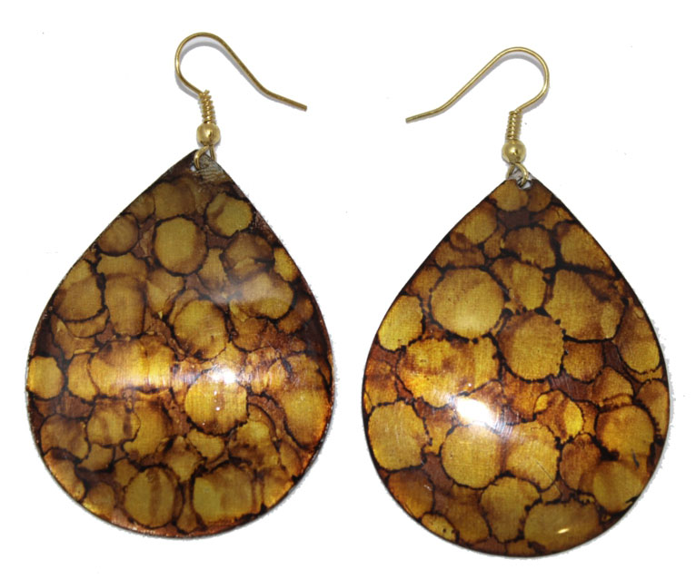 Серьги Ethnica, цвет: коричневый. 328075Серьги с подвескамиСерьги Ethnica выполнены из металла в виде капель. Изделие оснащено удобным замком-петлей.