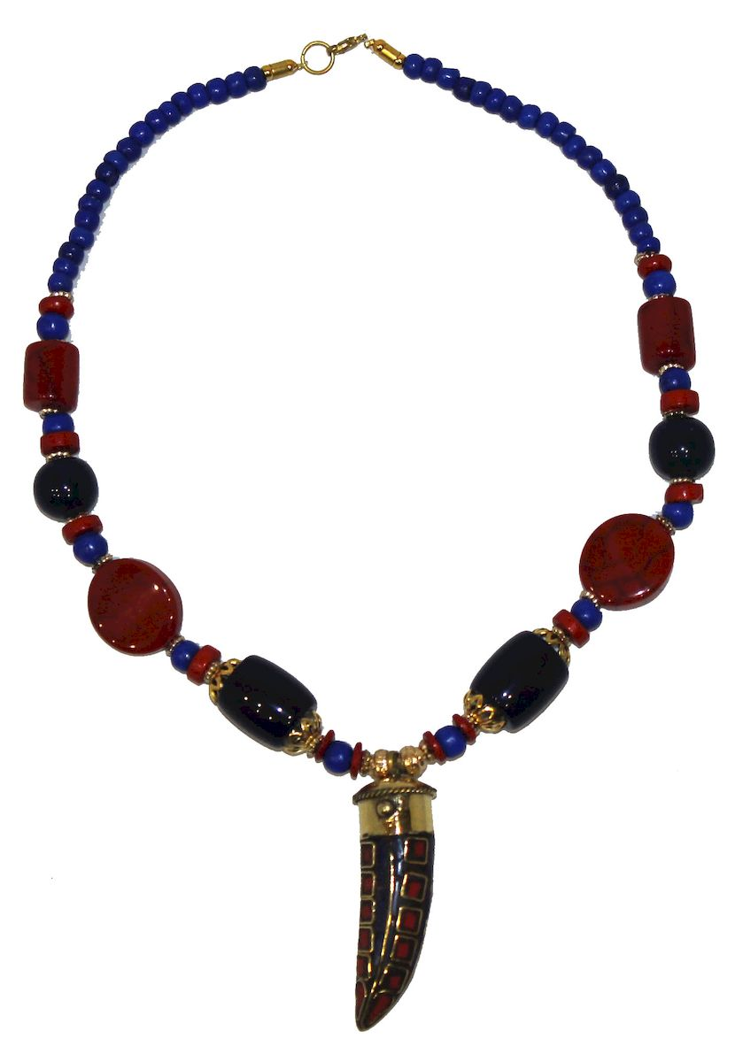 Ожерелье Ethnica, цвет: мультиколор. 347150_3Ожерелье (короткие многоярусные бусы)Ожерелье от Ethnica оформлено бусинами разного диаметра и дополнено оригинальной подвеской. Изделие застегивается на замок-карабин.