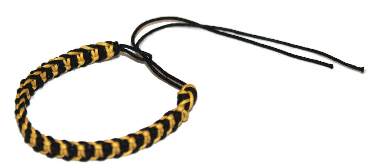 Браслет-фенечка Ethnica, цвет: желтый. 337012Глидерный браслетОригинальный браслет-фенечка Ethnica выполнен из разноцветных нитей. Браслет регулируется по размеру при помощи скользящего замка.