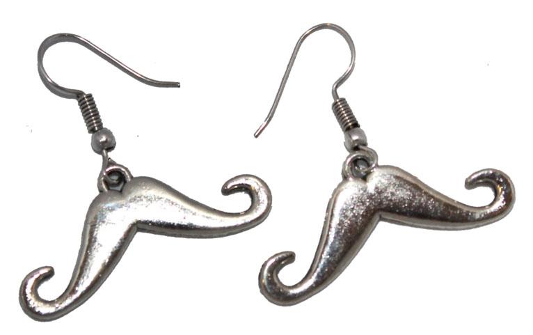 Серьги Ethnica, цвет: серебряный. 327035КаффыСерьги Ethnica выполнены из металла в форме усов. Изделие оснащено удобным замком-петлей.