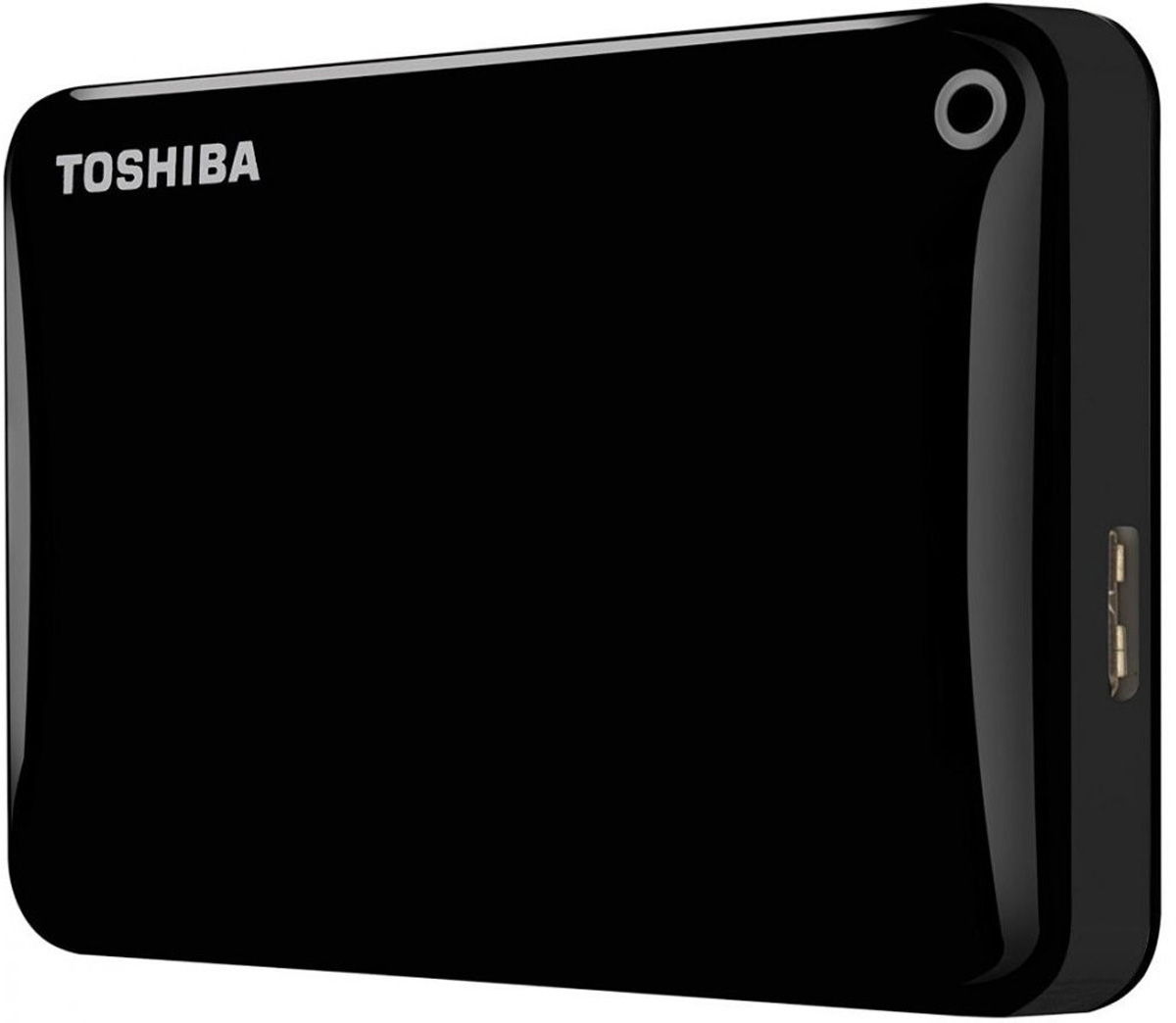 Toshiba Canvio Connect II 3TB, Black внешний жесткий диск (HDTC830EK3CA)HDTC830EK3CAToshiba Canvio Connect II дает вам возможность быстро передавать файлы с интерфейсом USB 3.0 и хранить до 3 ТБ данных на внешнем жестком диске. Устройство полностью готово для работы с Microsoft Windows и не требует установки программного обеспечения, так что ничего не может быть удобнее для хранения всех ваших любимых файлов. В офисе или в дороге его классический дизайн будет всегда уместен. Более того, Toshiba Canvio Connect II позволяет подключаться также и к оборудованию с совместимостью USB 2.0.Этот внешний накопитель обеспечивает доступ к вашим файлам практически из любого места и с любого устройства. Toshiba Canvio Connect II может легко превратить ваш компьютер в облачный сервер благодаря предустановленному ПО для удаленного доступа (накопитель должен быть подключен к компьютеру и Wi-Fi). Помимо удаленного доступа это устройство предоставляет своему владельцу 10 ГБ дополнительного места в облачном сервисе. Программное обеспечение NTI Backup Now EZ обеспечивает удобное и надежное создание резервных копий и восстановление всех ваших папок, файлов и операционной системы.Canvio Connect II оборудован датчиком ударов, сигнал которого переводит головку жесткого диска в безопасное положение, за счет чего снижается риск повреждения носителя и потери данных при падении накопителя. Накопитель имеет уже установленный драйвер NTFS для Mac, поэтому вам не придется волноваться из-за типа вашего компьютера - просто подключите Canvio Connect II и получите доступ к вашим файлам.