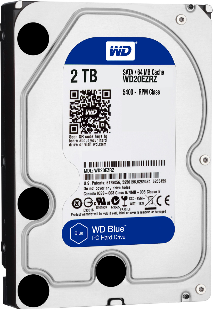 WD Blue 2TB внутренний жесткий диск (WD20EZRZ)WD20EZRZУвеличьте емкость ПК с помощью накопителей WD Blue, разработанных специально для настольных и моноблочных ПК. Линейка накопителей WD Blue позволяет увеличить объем хранения данных до 6 ТБ. Накопители WD поставляются с бесплатным доступом к программе WD Acronis True Image. Функции резервного копирования и восстановления позволяют легко сохранять и извлекать личные данные без переустановки системы.Каждый накопитель WD Blue проектируется, тестируется и производится на совесть. Кроме того, на все накопители этой линейки предоставляется двухгодичная гарантия.Технология бесконтактного считывания NoTouch обеспечивает безопасное расположение записывающей головки относительно поверхности накопителя для защиты данных. Данная модель также оснащена функцией IntelliSeek. Она вычисляет оптимальное время поиска, что помогает уменьшить уровень энергопотребления, шума и вибрации.