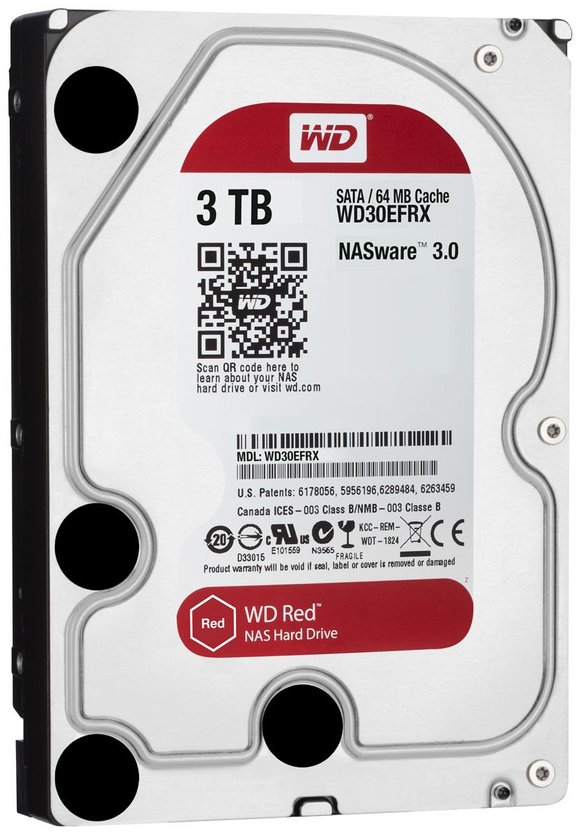 WD Red 3TB внутренний жесткий диск (WD30EFRX)WD30EFRXЧтобы быстро и удобно транслировать медиафайлы, создавать резервные копии данных, хранящихся на ПК, обмениваться файлами и работать с цифровыми материалами, установите в сетевом устройстве хранения накопители WD Red. Удобная интеграция, надежная защита данных и оптимальное быстродействие для систем NAS с высокими требованиями.Транслируйте цифровые материалы, выполняйте их резервное копирование, систематизируйте их и отправляйте на телевизор, ПК и другие устройства. Технология NASware повышает совместимость ваших накопителей с системами NAS, обеспечивая тем более высокое качество воспроизведения цифровых материалов на устройствах.В основе процветания любого бизнеса лежат производительность и эффективность. И именно этими двумя принципами WD руководствовались, разрабатывая накопители Red. Благодаря накопителю WD Red в системах NAS вы сможете предоставлять общий доступ к файлам и выполнять их резервное копирование с той же скоростью, с какой работает ваша компания.Доступная для загрузки бесплатная программа Acronis True Image WD Edition позволяет клонировать диски, а также создавать резервные копии операционной системы, приложений, настроек и всех данных.