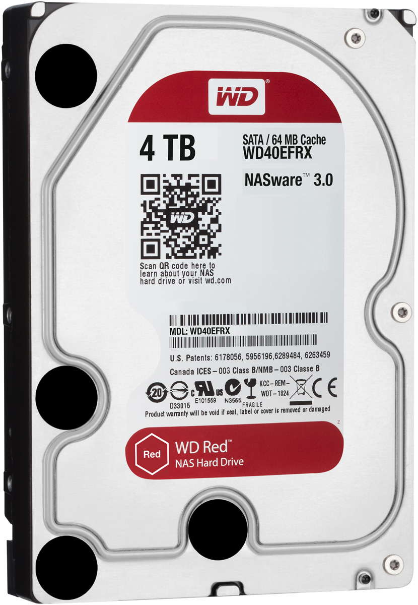 WD Red 4TB внутренний жесткий диск (WD40EFRX)WD40EFRXЧтобы быстро и удобно транслировать медиафайлы, создавать резервные копии данных, хранящихся на ПК, обмениваться файлами и работать с цифровыми материалами, установите в сетевом устройстве хранения накопители WD Red. Удобная интеграция, надежная защита данных и оптимальное быстродействие для систем NAS с высокими требованиями.Транслируйте цифровые материалы, выполняйте их резервное копирование, систематизируйте их и отправляйте на телевизор, ПК и другие устройства. Технология NASware повышает совместимость ваших накопителей с системами NAS, обеспечивая тем более высокое качество воспроизведения цифровых материалов на устройствах.В основе процветания любого бизнеса лежат производительность и эффективность. И именно этими двумя принципами WD руководствовались, разрабатывая накопители Red. Благодаря накопителю WD Red в системах NAS вы сможете предоставлять общий доступ к файлам и выполнять их резервное копирование с той же скоростью, с какой работает ваша компания.Доступная для загрузки бесплатная программа Acronis True Image WD Edition позволяет клонировать диски, а также создавать резервные копии операционной системы, приложений, настроек и всех данных.