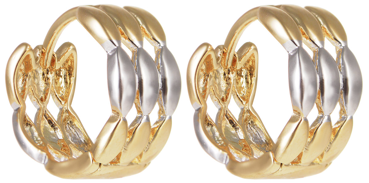 Серьги Taya, цвет: золотистый, серебристый. T-B-11699Серьги с подвескамиЭлегантные серьги Taya выполнены из бижутерного сплава и оформлены оригинальным дизайном. Застегивается изделие с помощью замка-конго.Такие серьги внесут изюминку, как в повседневный, так и в выходной образ и позволят выделиться среди окружающих.