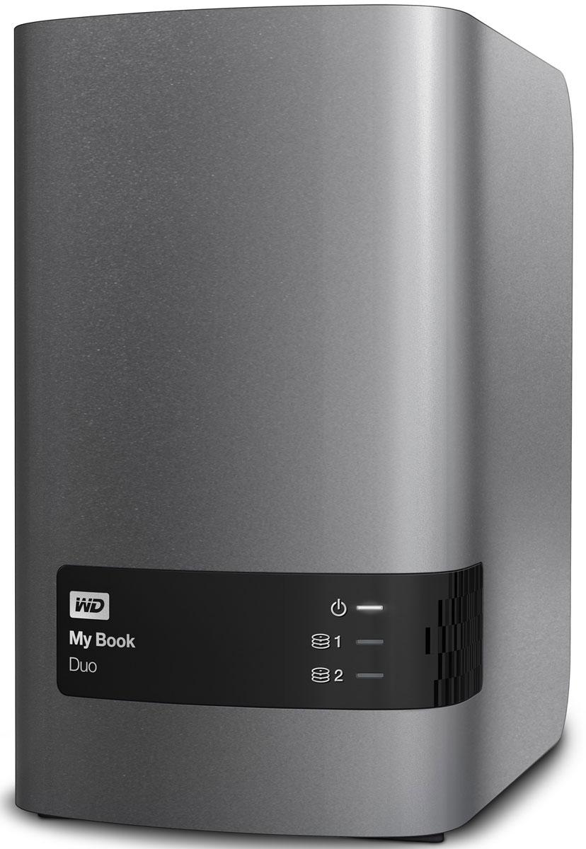 WD My Book Duo 4TB внешний жесткий диск (WDBRMH0040JCH-EEUE)WDBRMH0040JCH-EEUEНакопитель My Book Duo, оснащенный двумя жесткими дисками WD Red, обеспечивает внушительную емкость и в два раза более высокую скорость передачи данных. За счет объединения производительности дисков вы получаете скорость передачи до 324 МБ/с, что позволяет с легкостью копировать видео в формате Full HD или всю свою коллекцию мультимедиа.My Book Duo — это ваше персонализированное цифровое хранилище. Благодаря высокой емкости у вас будет достаточно места для централизованного хранения всей коллекции мультимедиа и важных документов в полном порядке и абсолютной безопасности.Настройте собственное расписание, чтобы копировать обновленные файлы или выполнять резервное копирование новых папок автоматически, используя WD SmartWare. Программа резервного копирования незаметно работает в фоновом режиме, так что защита ваших данных обеспечивается при потреблении минимального количества ресурсов компьютера. WD SmartWare также работает с Dropbox, так что можно даже сохранять файлы в облако.Acronis True Image WD Edition выполняет резервное копирование файлов на системном уровне, так что у вас всегда будет под рукой ваша операционная система и все, что в ней есть. При использовании Acronis True Image и My Book Duo выполняется резервное копирование всех ваших файлов, приложений и параметров системы на защищенное устройство.My Book Duo поставляется в конфигурации RAID 0, обеспечивающей максимальную производительность и емкость. Однако можно выбрать и другой вариант в соответствии со своими потребностями: RAID 1 для максимальной защиты данных или JBOD, чтобы использовать диски по отдельности.My Book Duo обеспечивает 256-разрядное аппаратное AES-шифрование. А защита паролем оберегает всю вашу коллекцию мультимедиа и важные файлы на накопителе My Book Duo от несанкционированного доступа.У My Book Duo два порта USB 3.0 на задней панели, благодаря чему можно подключить несколько устройств одновременно. Вы можете