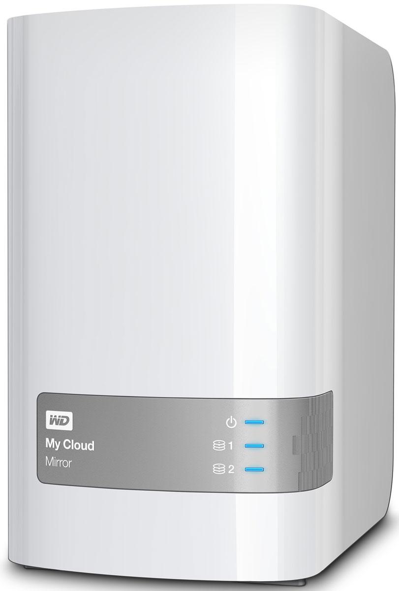 WD My Cloud Mirror 4TB сетевое хранилище (WDBWVZ0040JWT-EESN)WDBWVZ0040JWT-EESNВ отличие от общедоступного облака, персональное облачное хранилище My Cloud Mirror позволяет хранить все данные в безопасной домашней сети, а не в неизвестном месте. К тому же вы получаете столько места для хранения данных, сколько потребуется — и никакой абонентской платы.Персональное облачное хранилище My Cloud Mirror использует два жестких диска и работает в режиме зеркальной записи данных (RAID 1). Это значит, что ваши бесценные данные хранятся на одном из дисков и автоматически копируются на второй. Если даже (маловероятно, но вдруг) один из дисков выйдет из строя, у вас все равно не будет повода для беспокойства, ведь на втором диске все ваши данные останутся в целости и сохранности.Систематизируйте все семейные фотографии, видеозаписи и музыку с сохранением резервных копий в одном надежном хранилище и получите доступ к этим файлам с любого вашего устройства.Благодаря доступу через Интернет и с мобильных устройств My Cloud дает возможность без труда просматривать и делиться любимыми фотографиями и видео — с компьютера, планшета или смартфона, когда угодно и откуда угодно.WD My Cloud Mirror позволяет использовать удобные инструменты для резервного копирования, чтобы защищать важные данные на всех домашних ПК и Mac. Программное обеспечение для резервного копирования WD SmartWare Pro для ПК поможет настроить выполнение функций в определенное время. Кроме того, накопитель My Cloud Mirror совместим с Apple Time Machine, так что данные пользователей компьютеров Mac всегда будут в целости и сохранности.Самые дорогие сердцу фотографии и видеозаписи обычно снимают на камеры смартфонов или планшетов. Мобильное приложение My Cloud поможет сохранить эти бесценные моменты: резервная копия файла сразу автоматически создается в вашем персональном облачном хранилище.WD Sync автоматически синхронизирует важные данные на всех ваших компьютерах и устройстве My Cloud Mirror, поэтому вы получаете досту