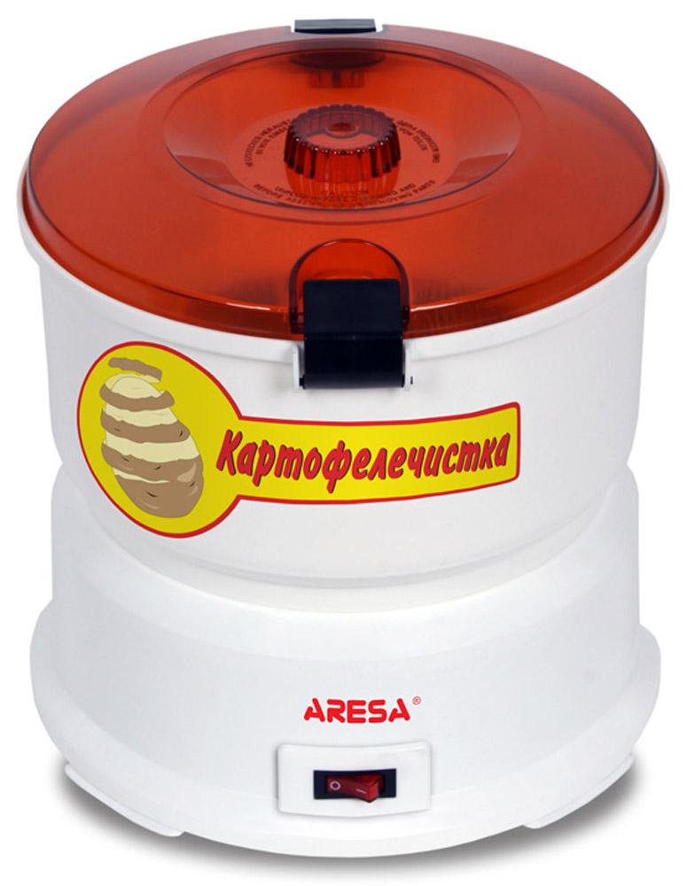 Aresa AR-1501 картофелечистка электрическаяAR-1501Картофелечистка Aresa AR-1501 чистит до 1 кг картошки за раз. Время чистки составляет около 2 минут в зависимости от величины клубней. Прозрачная крышка позволяет контролировать процесс очистки не останавливая работу прибора. Картофелечистка оснащена защитной блокировкой от случайного включения.