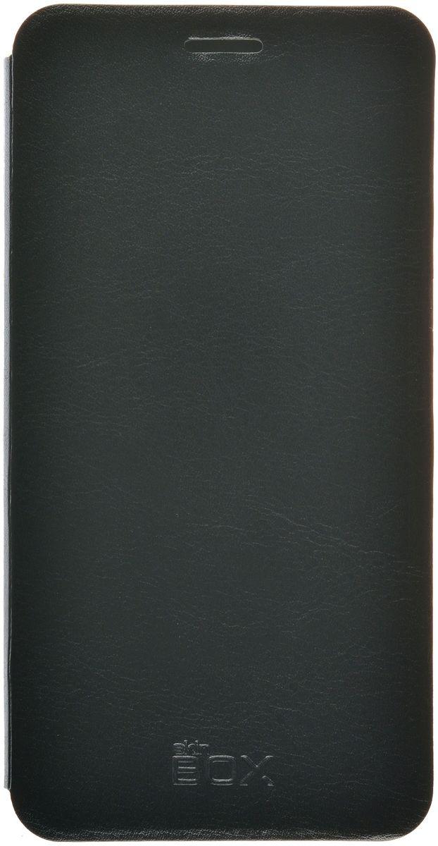 Skinbox Lux чехол для Meizu Pro 6, Black2000000092942Чехол-книжка Skinbox для Meizu Pro 6 c круглым окошком надежно защитит ваш смартфон от пыли, грязи, царапин, оставив при этом свободный доступ ко всем разъемам устройства. Также имеется возможность использования чехла в виде настольной подставки. Чехол Skinbox - это стильная и элегантная деталь вашего образа, которая всегда обращает на себя внимание среди множества вещей.