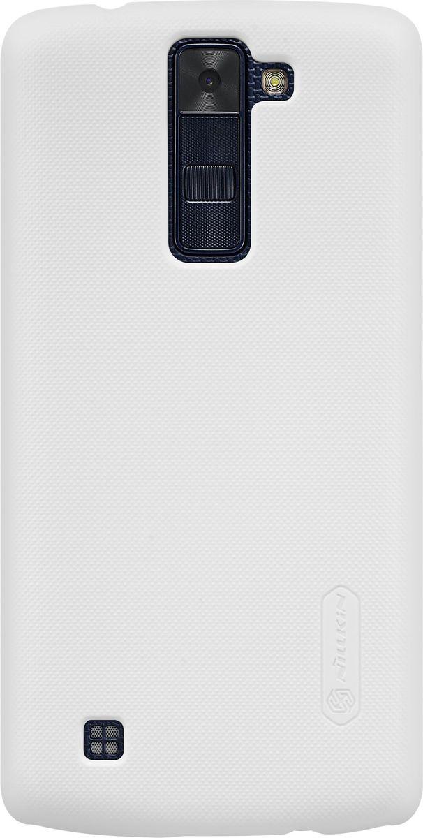 Nillkin Super Frosted Shield чехол для LG K8, White2000000096209Чехол Nillkin Super Frosted Shield для LG K8 надежно защитит ваш смартфон от внешних воздействий, грязи, пыли, брызг. Он также поможет при ударах и падениях, не позволив образоваться на корпусе царапинам и потертостям. Чехол обеспечивает свободный доступ ко всем функциональным кнопкам смартфона и камере. Задняя сторона изготовлена из шершавого пластика, который не даст смартфону выскользнуть из рук.
