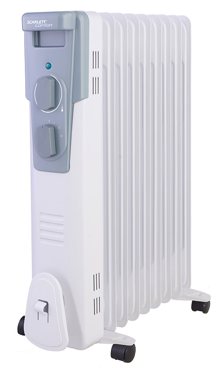 Scarlett SC 41.2009 масляный электрический радиаторSC 41.2009Бытовой масляный радиатор Scarlett SC 41.2009 поможет вам решить задачу по созданию уютной и комфортной температуры в вашем доме. В радиаторе используется высококачественный термостат на основе медного сплава.Ступенчатое переключение мощности нагрева дает возможность регулировать температуру. Также в радиаторе используетсявысокоэффективное масло, что приводит к быстрому нагреву. При работе радиатор не сжигает кислород, не сушит воздух. Благодаря простоте установки устройство подходит как для дома так и для офиса.