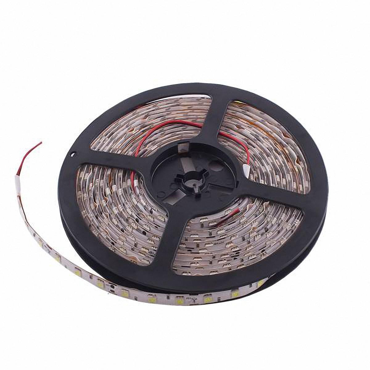 Skyway Лента светодиодная 300 SMD диодов. S03201026S03201026Входное напряжение: 12V.Длина: 500 см.Цвет основы: белый.Цвет катушки: синий.